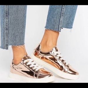 Women's ASOS Rose Gold Sneakers size 10